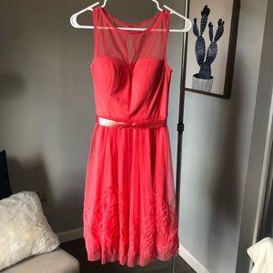 Coral bridesmaid/cocktail dress